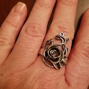 Jewelry - AWESOME ROSE & VINE .925 STERLING SILVER RING